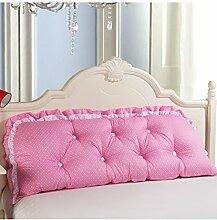 Kopfbrettkissen Baumwolle Bett Kissen Doppelbett Rückenlehne Kissen Bedside Big Headboard Kissen ( Farbe : F , größe : 1.5*0.6m )