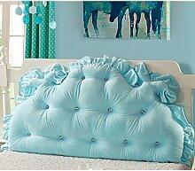 Kopfbrettkissen Bettseite Rückenlehne Baumwolle Bett Kissen Doppelbett Rückenlehne Kissen Bedside Big Kopfteil Kissen Waschbar ( Farbe : D , größe : 2m )