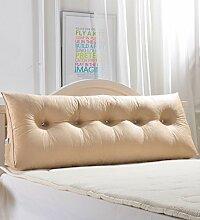 Kopfbrettkissen Bettseite Rückenlehne Baumwolle Bett Kissen Doppelbett Rückenlehne Kissen Bedside Big Kopfteil Kissen Waschbar ( Farbe : Gelb , größe : 200*50cm )