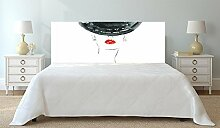 Kopfteil Bett PVC Digitaldruck Vintage Frau mit