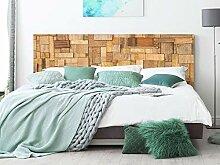 Kopfteil Bett Wabenplatte Rechtecke aus Holz |