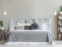 Kopfteil für Bett, PVC, Digitaldruck, Hirsch mit