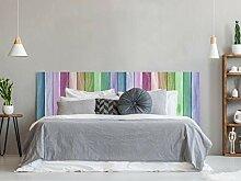 Kopfteil für Betten, PVC, Textur Holz,