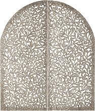 Kopfteil INDORE aus geschnitztem Holz, 160