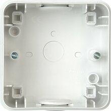 Kopp 356352013 Aufputz-Gehäuse für Personenschutzsteckdose, weiß