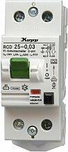 Kopp 752528081 Fehlerstromschutzschalter, 2-polig nach DIN VDE 0664