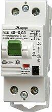 Kopp 754028088 Fehlerstromschutzschalter, 2-polig nach DIN VDE 0664