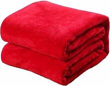 Korallen Samt Einfarbig Decken Kinder Erwachsene Wärme Kniedecke Weich Wind Verblassen Nicht Schlafsofa Decke,Red-50*70cm
