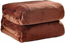 Korallen Samt Einfarbig Decken Kinder Erwachsene Wärme Kniedecke Weich Wind Verblassen Nicht Schlafsofa Decke,Coffee-50*70cm