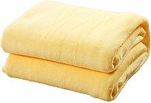 Korallen Samt Einfarbig Decken Kinder Erwachsene Wärme Kniedecke Weich Wind Verblassen Nicht Schlafsofa Decke,Yellow-70*100cm