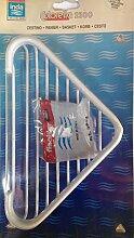 Korb eck Dusche aus Messing lackiert weiß 15x 15