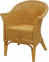 korb.outlet Rattan-Sessel Natur in der Farbe