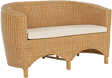 korb.outlet Rattan-Sofa 2-Sitzer Club inkl.