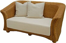 korb.outlet Rattan-Sofa 2-Sitzer in der Farbe