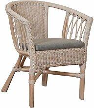 korb.outlet Stapelbarer Rattan-Sessel/Stuhl aus