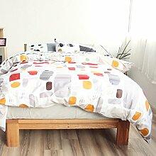 Korean style100% cotton four setzt weiche bequeme haltbare haut-friendly bettwäsche-sammlung bed sheet cartoon pattern-H Queen1