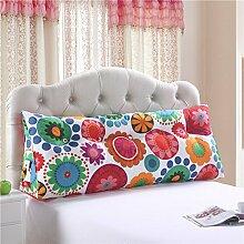 Koreanisch bett sofa baumwolle große gefüllte dreieckige Koreanisches bett sofa Großes langes kissen Kissen-G 180x25x50cm(71x10x20inch)