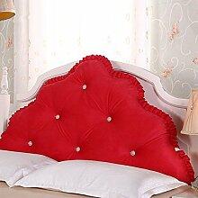 Koreanische Hochzeit Baumwollbett große Kissen / abnehmbare Baumwolle Prinzessin Bett große Rückenlehne / Doppel lange Kissen ( größe : 200*70cm )