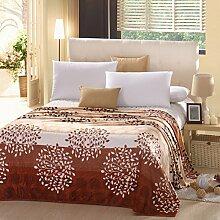 koreanische Stil Einfarbig Blumen/Blumen [verdicken] Polyester Sofadecken-G 200x230cm(79x91inch)