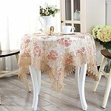Koreanischen Stil Runde Tischdecke/Garten Blume Stickerei Lace Tuch/Tischdecke decke/Tischdecke decke/Mehrzweck-Tuch/ decken Handtücher-A 56x56cm(22x22inch)