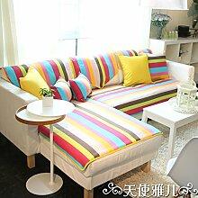 Koreanisches Gartensofa Handtuch Doppelseitige zweilagige Gewebe Sofakissen A 70x70cm(28x28inch)