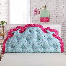 Koreanisches volles baumwoll bett kissen Bett soft bag Großes rücken bett Princess garten kissen Doppel sofa kissen-F 120x70cm(47x28inch)