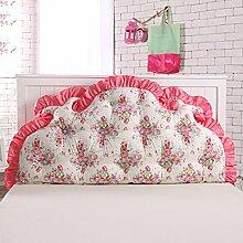Koreanisches volles baumwoll bett kissen Bett soft bag Großes rücken bett Princess garten kissen Doppel sofa kissen-E 120x70cm(47x28inch)