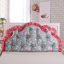 Koreanisches volles baumwoll bett kissen Bett soft bag Großes rücken bett Princess garten kissen Doppel sofa kissen-I 200x70cm(79x28inch)