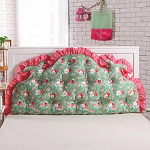 Koreanisches volles baumwoll bett kissen Bett soft bag Großes rücken bett Princess garten kissen Doppel sofa kissen-C 180x70cm(71x28inch)