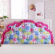 Koreanisches volles baumwoll bett kissen Bett soft bag Großes rücken bett Princess garten kissen Doppel sofa kissen-B 180x70cm(71x28inch)