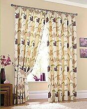 Kork Blumen Creme Lila 66 X 72 Vorhänge Gardinen