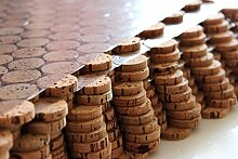 Korkboden Kork Mosaik Fliesen Bodenbelag Wandbelag 60 cm x 30 cm Stärke 6mm massiv / In- und Outdoor / Feuchträume / Bäder / Terrassen / Schwimmbäder / Wege (20)