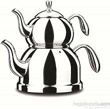 Korkmaz A 190 Pro-Cheff Teekanne Caydanlik 18/10