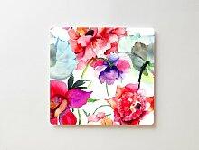 Korktafel/Pinnwand Blumenbild