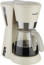 Korona – Kaffeeautomat 10205 I 1,25 Liter I 10 Tassen I 1080 W I Sand-Grau