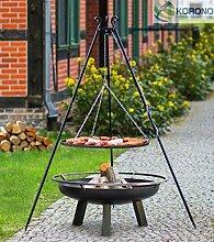 Korono 2 in 1 Schwenk Grill & Feuerschale Grill Rost 80 cm & Feuerschale 80 cm - Grillen & Chillen