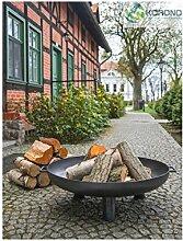 KORONO 5900105400185 Feuerschale, Rohstal, 66 x 66 x 22 cm