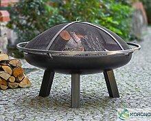 Korono Feuerschale 70cm mit Loch & Tragering &