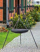 Korono Schwenk BBQ WOK Grill 60 cm Stahl Dreibein Gestell 200cm Schwenkgrill - für alle Outdoor Feste & Grill Partys