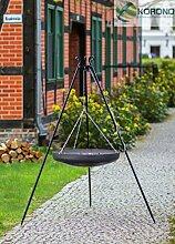 Korono Schwenk BBQ WOK Grill 70 cm Stahl Dreibein