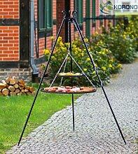 Korono Schwenkgrill stabiles Teleskopgestell 180