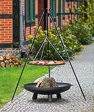 KORONO ® Set - Schwenkgrill mit Kurbel 180cm und