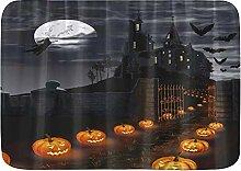KOSALAER Badematte Halloween-Thema Magische Burg