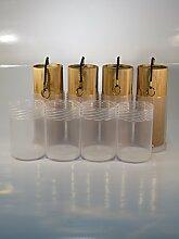 Koshi Klangspiel 4er Set (Feuer, Erde, Wasser, Luft) + Transport-Box, Windspiel, Klangtherapie, Gartendeko, Glockenspiel