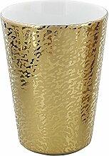 Kosmetex Zahnputz-Becher Gold Shadow, Porzellan