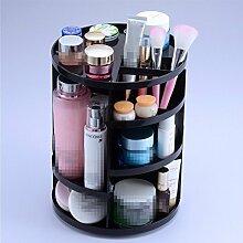 Kosmetik-Aufbewahrungsbox Rotary Desktop Plastic Dresser Badezimmer Hautpflege Regal, weiß