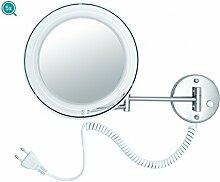 Kosmetik-Wandspiegel LED mit 5-facher Vergrößerung, Ausführung:5-fach