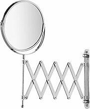 Kosmetik-Wandspiegel Teleskop Exclusiv Teleskoparm normale und 3-fache Vergrößerung