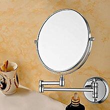 Kosmetikspiegel Messing. EIN- und ausklappbarer