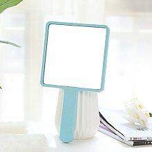 Kosmetikspiegel Portable Falten 12 * 21,5 cm, Hellblau